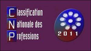 Classification nationale des professions (CNP)