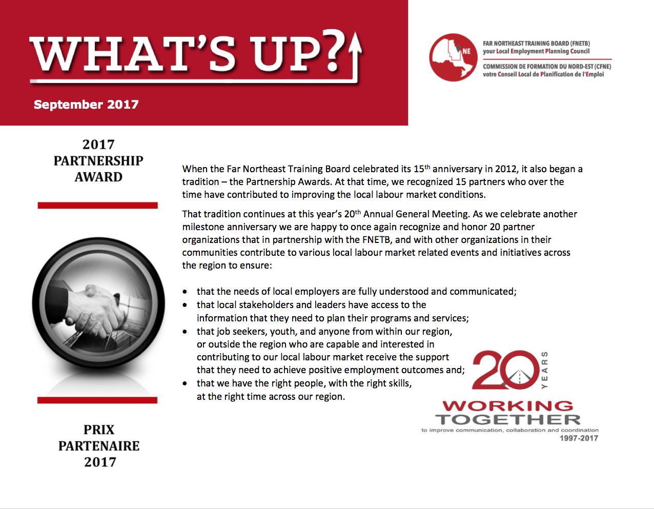 FNETB Newsletter - September 2017