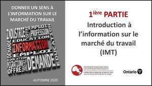 Introduction à l'information sur le marché du travail