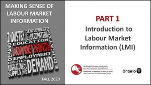 Introduction to Labour Market Information - LMI