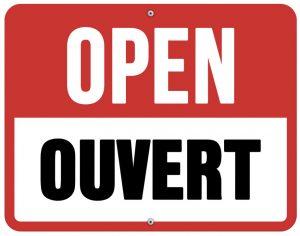 Open / Ouvert